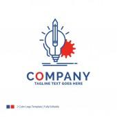 Název společnosti logo návrh pro představu, pohled, klíč, lampa, žárovka