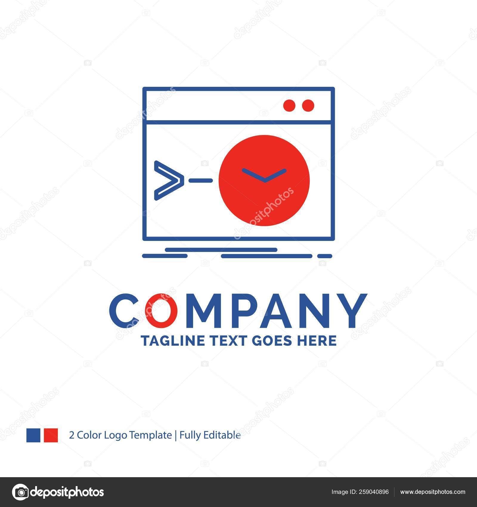 Company Name Logo Design For Admin Command Root Software Ter Stock Vector C Flatart 259040896