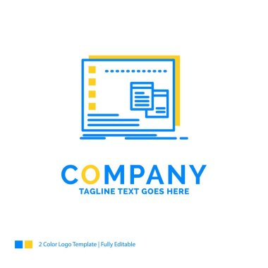 Window, Mac, operational, os, program Blue Yellow Business Logo template. Creative Design Template Place for Tagline. icon