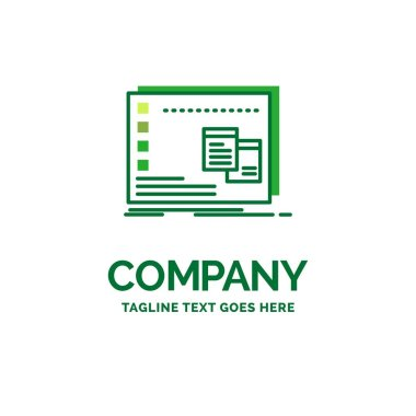 Window, Mac, operational, os, program Flat Business Logo template. Creative Green Brand Name Design. icon