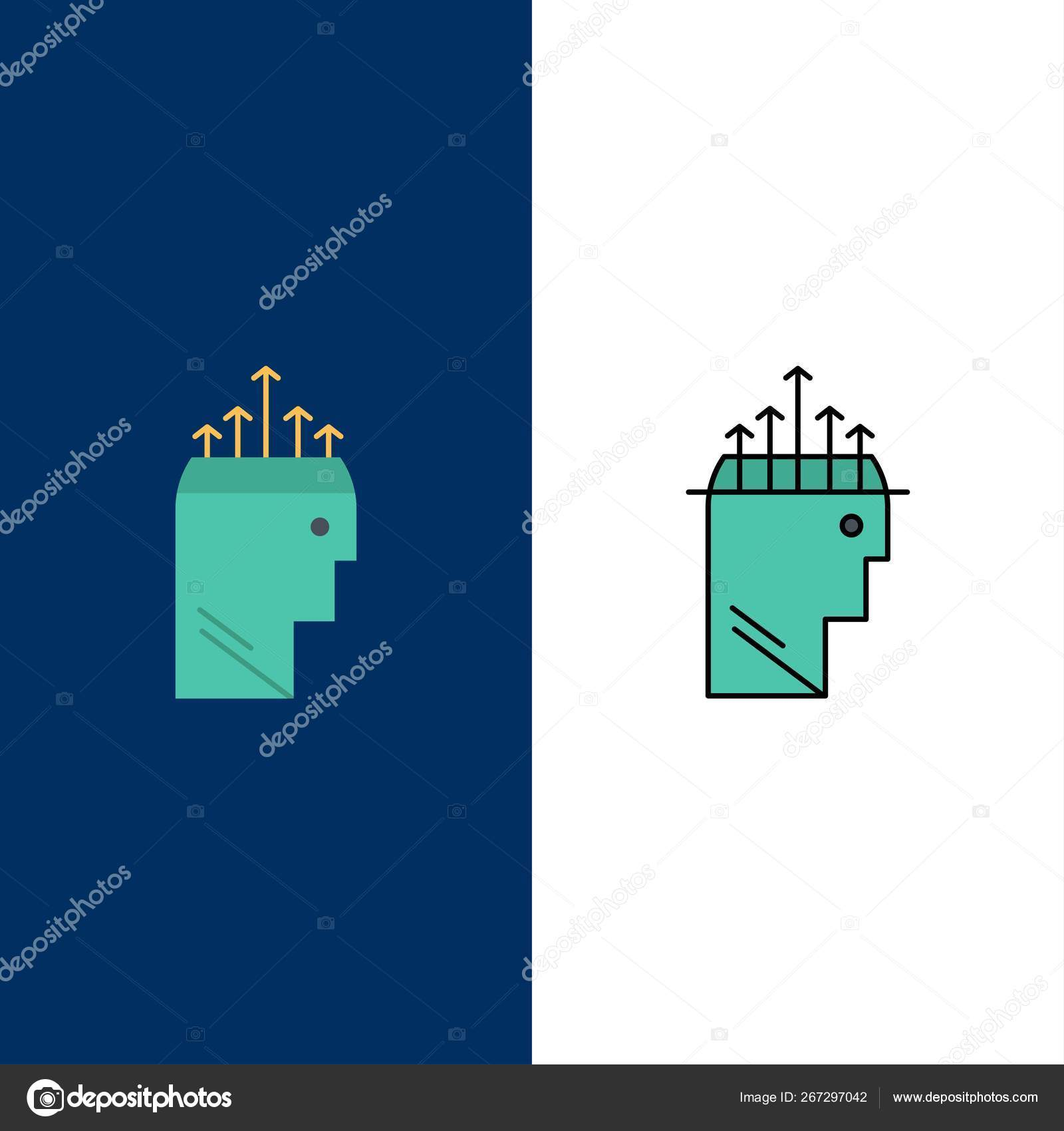 Hand Hypnosis Data Psychology Icons Flat Line Filled Icon