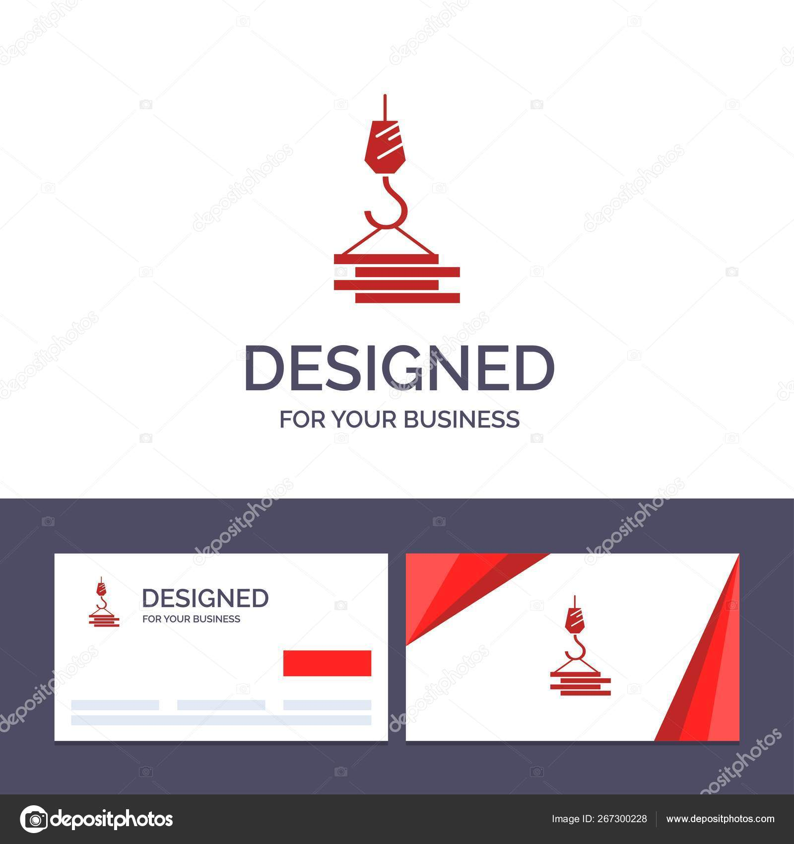 Creative Business Card And Logo Template Crane Building