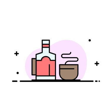 Tea, Cup, Hot, Hotel  Business Flat Line Filled Icon Vector Bann