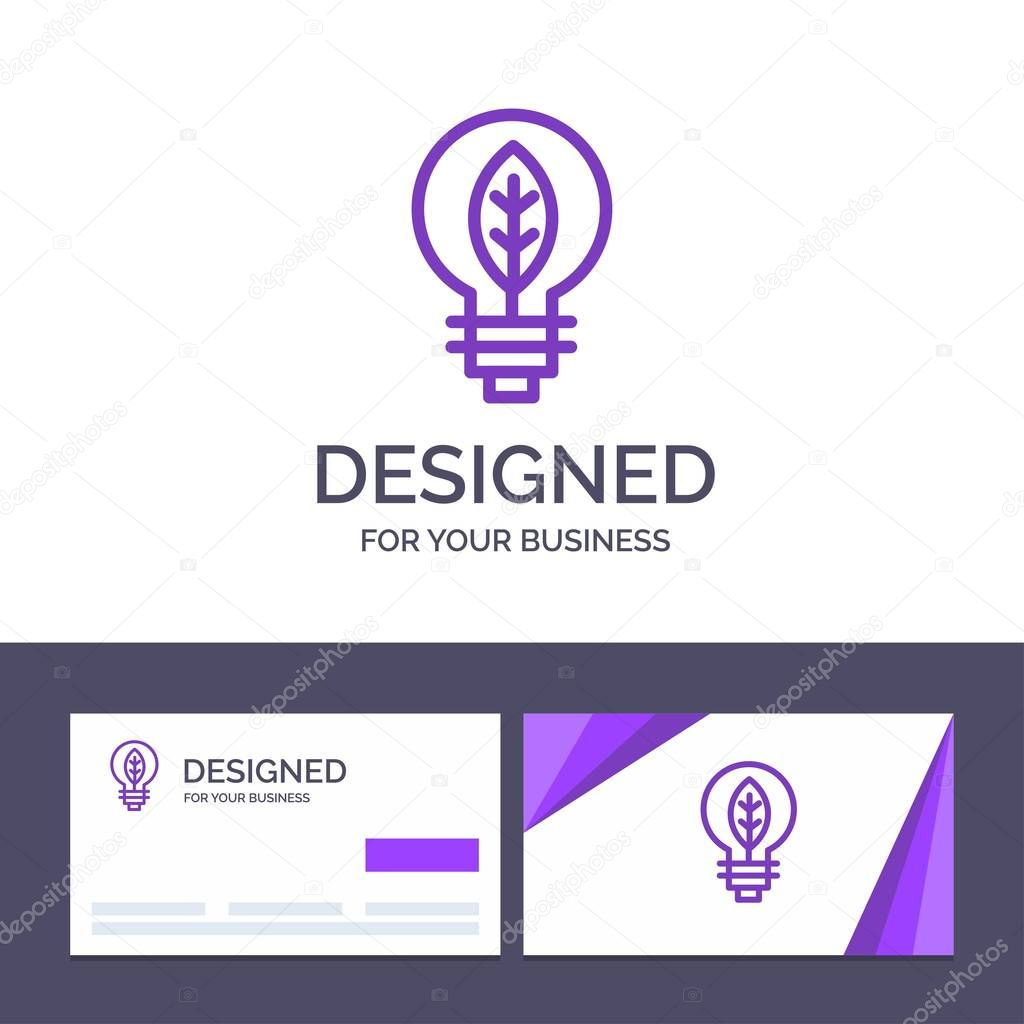 Creative Business Card and Logo template Nature, Of, Power, Bulb