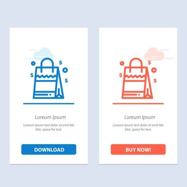 Bag, Handbag, Usa, American  Blue and Red Download and Buy Now web Widget Card Template icon