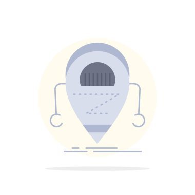 Android, beta, droid, robot, Technology Flat Color Icon Vector
