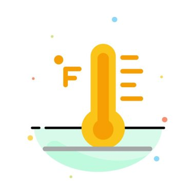 Cloud, Light, Rainy, Sun, Temperature Abstract Flat Color Icon T