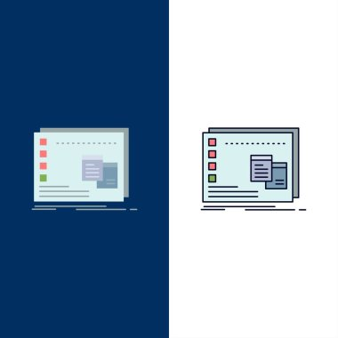 Window, Mac, operational, os, program Flat Color Icon Vector icon
