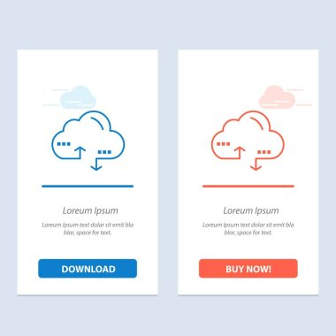 Cloud, Computing, Link, Data  Blue and Red Download and Buy Now