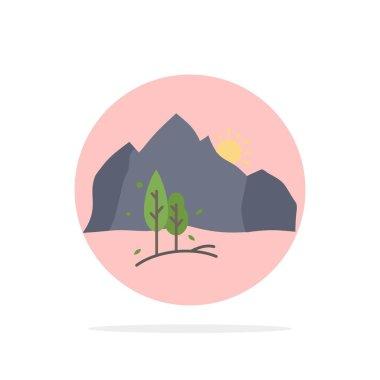 """Картина, постер, плакат, фотообои """"холм, ландшафт, природа, горы, деревья москва города"""", артикул 267487766"""