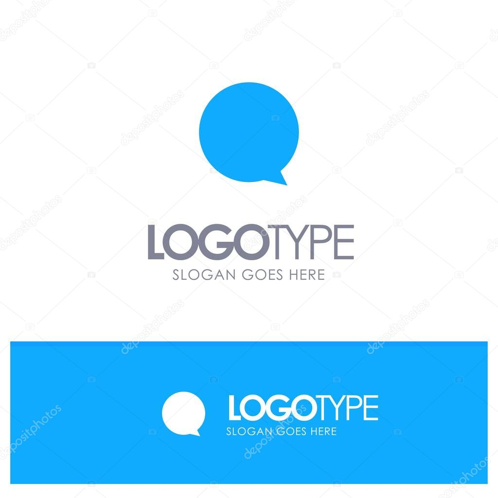 Chat, Instagram, Interface Blue Solid Logo with place for