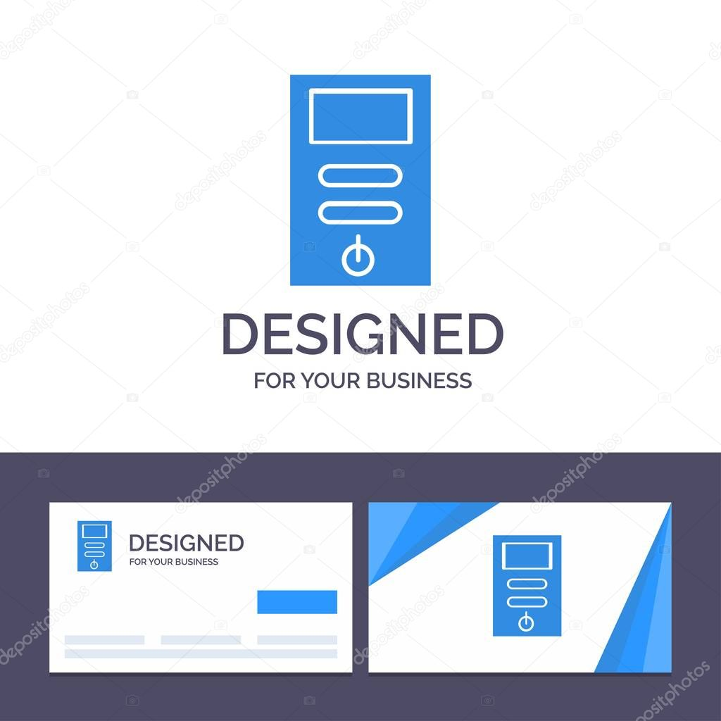 creative business card and logo template computer cpu pc stabilizer vector illustration premium vector in adobe illustrator ai ai format encapsulated postscript eps eps format wdrfree