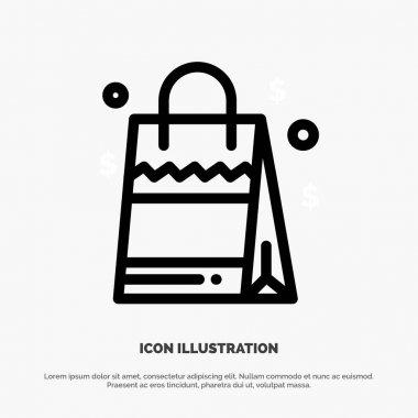 Bag, Handbag, Usa, American Line Icon Vector icon