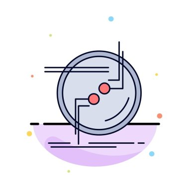 chain, connect, connection, link, wire Flat Color Icon Vector