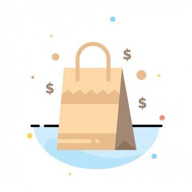 Bag, Handbag, Usa, American Abstract Flat Color Icon Template icon