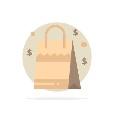 Bag, Handbag, Usa, American Abstract Circle Background Flat color Icon icon