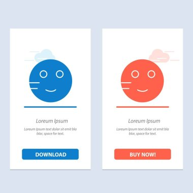 Embarrassed, Emojis, School, Study  Blue and Red Download and Bu