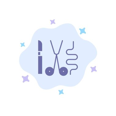 Instruments, Surgery, Tools, Medical Blue Icon on Abstract Cloud