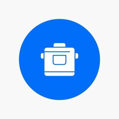 Cooker, Kitchen, Rice, Hotel white glyph icon