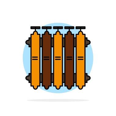 Radiator, Heating, Battery, Warm, Heat Abstract Circle Backgroun