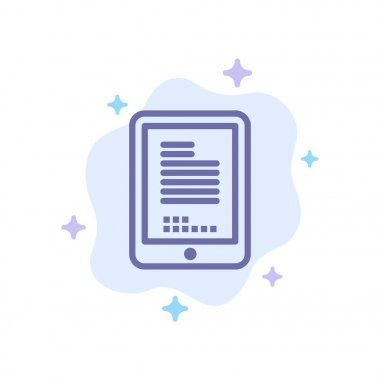 Mobile, Coding, Hardware, Cell Blue Icon on Abstract Cloud Backg