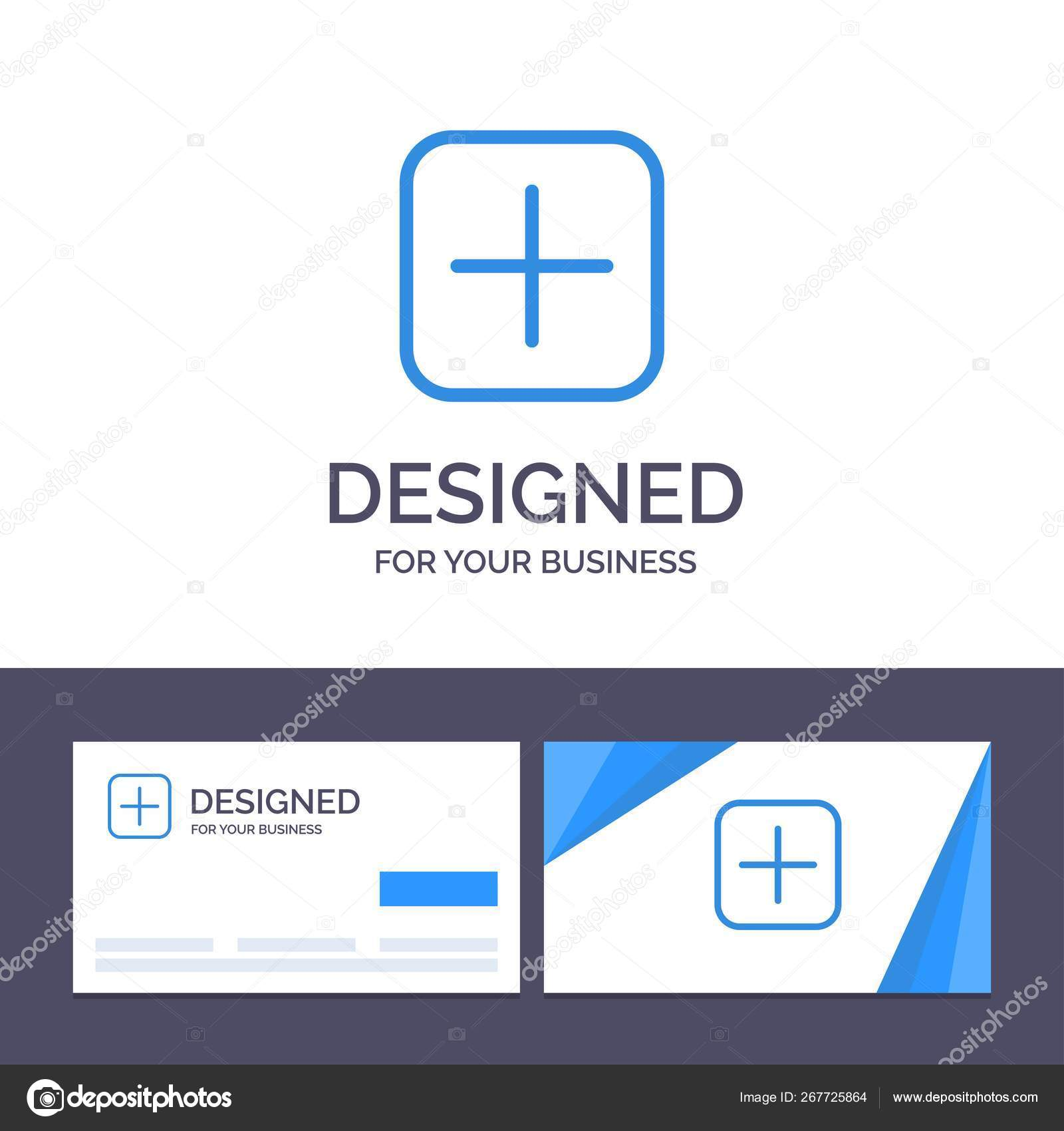 Creative Business Card and Logo template Instagram, Plus