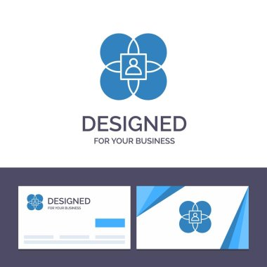 Creative Business Card and Logo template Character, Features, Hu