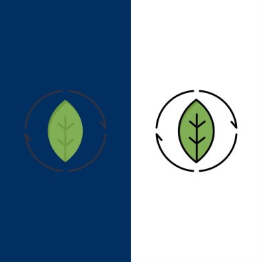 Energy, Green, Source, Power  Icons. Flat and Line Filled Icon S
