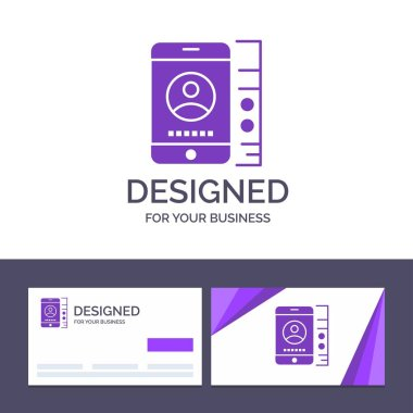 Creative Business Card and Logo template mobile, Cell, Service,