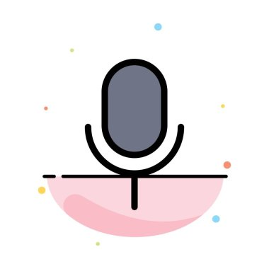 Mic, Microphone, Basic, Ui Abstract Flat Color Icon Template