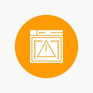Computing, Coding, Error white glyph icon