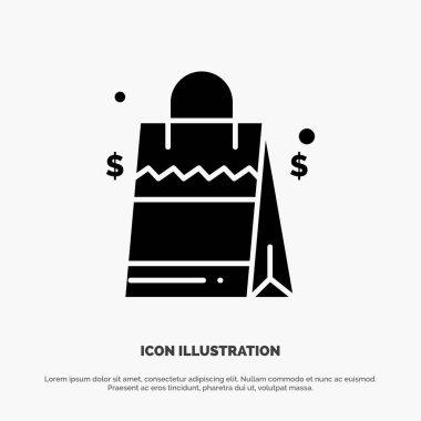 Bag, Handbag, Usa, American solid Glyph Icon vector icon