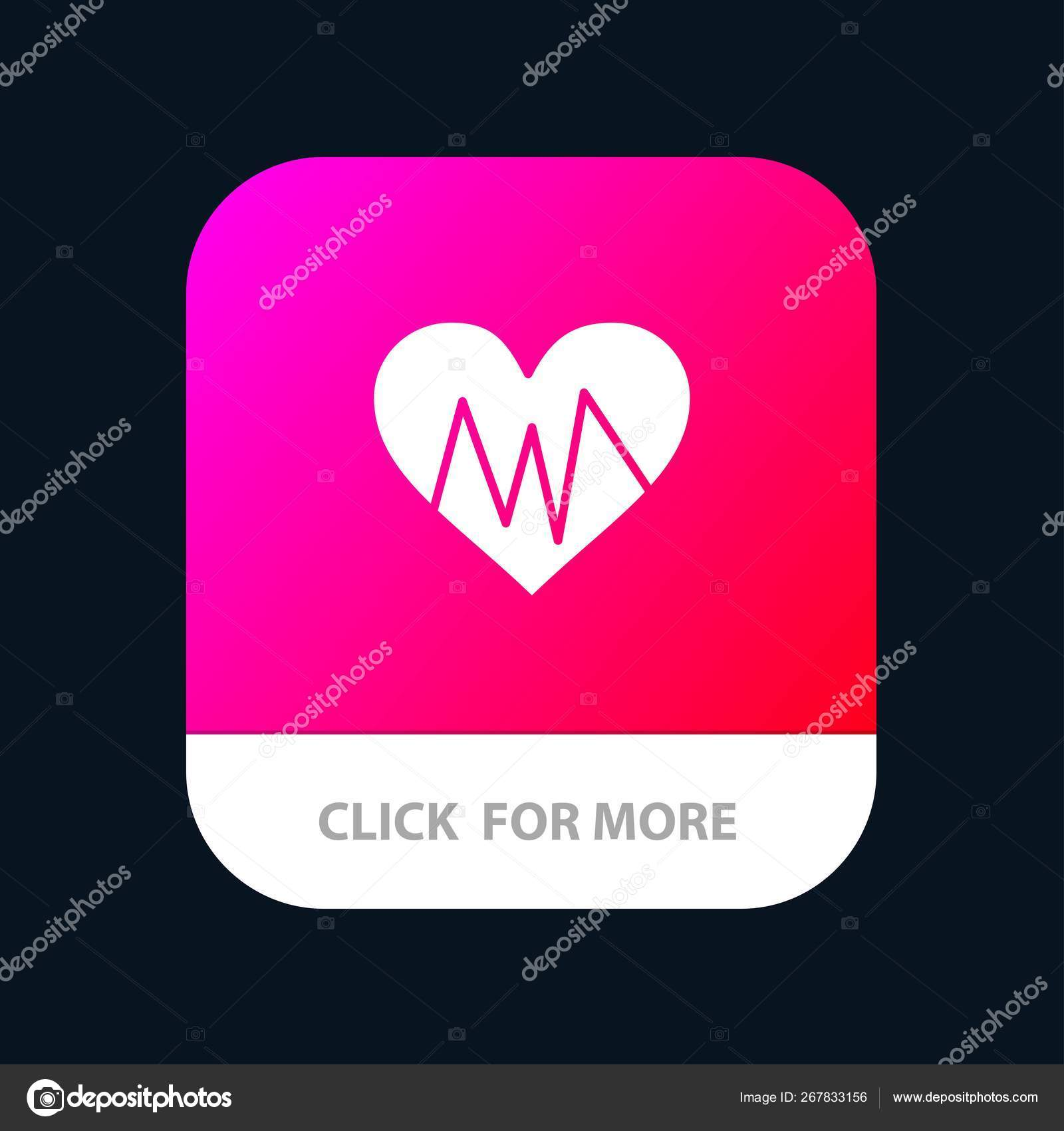 Medical, Heart, Heartbeat, Pulse Mobile App Button  Android and