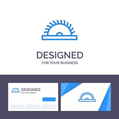 Creative Business Card and Logo template Construction, Saw, Tool