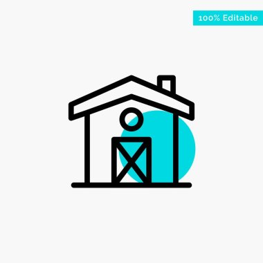 Home, House, Canada turquoise highlight circle point Vector icon