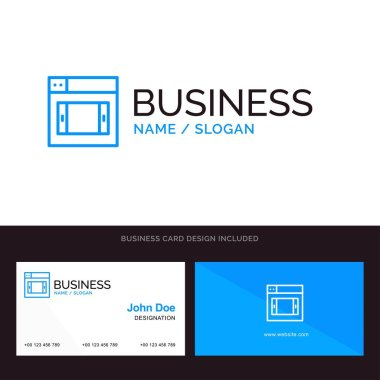 Web, Design, Mobile Blue Business logo and Business Card Templat