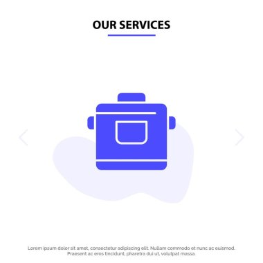 Our Services Cooker, Kitchen, Rice, Hotel Solid Glyph Icon Web c