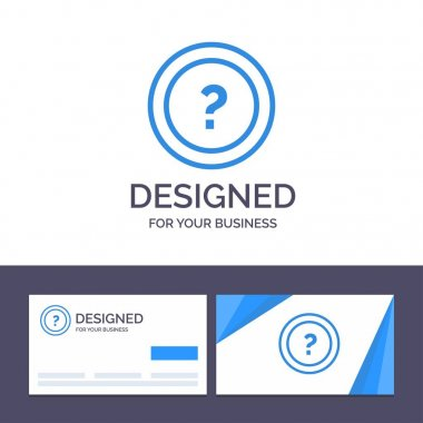 Creative Business Card and Logo template About, Ask, Information
