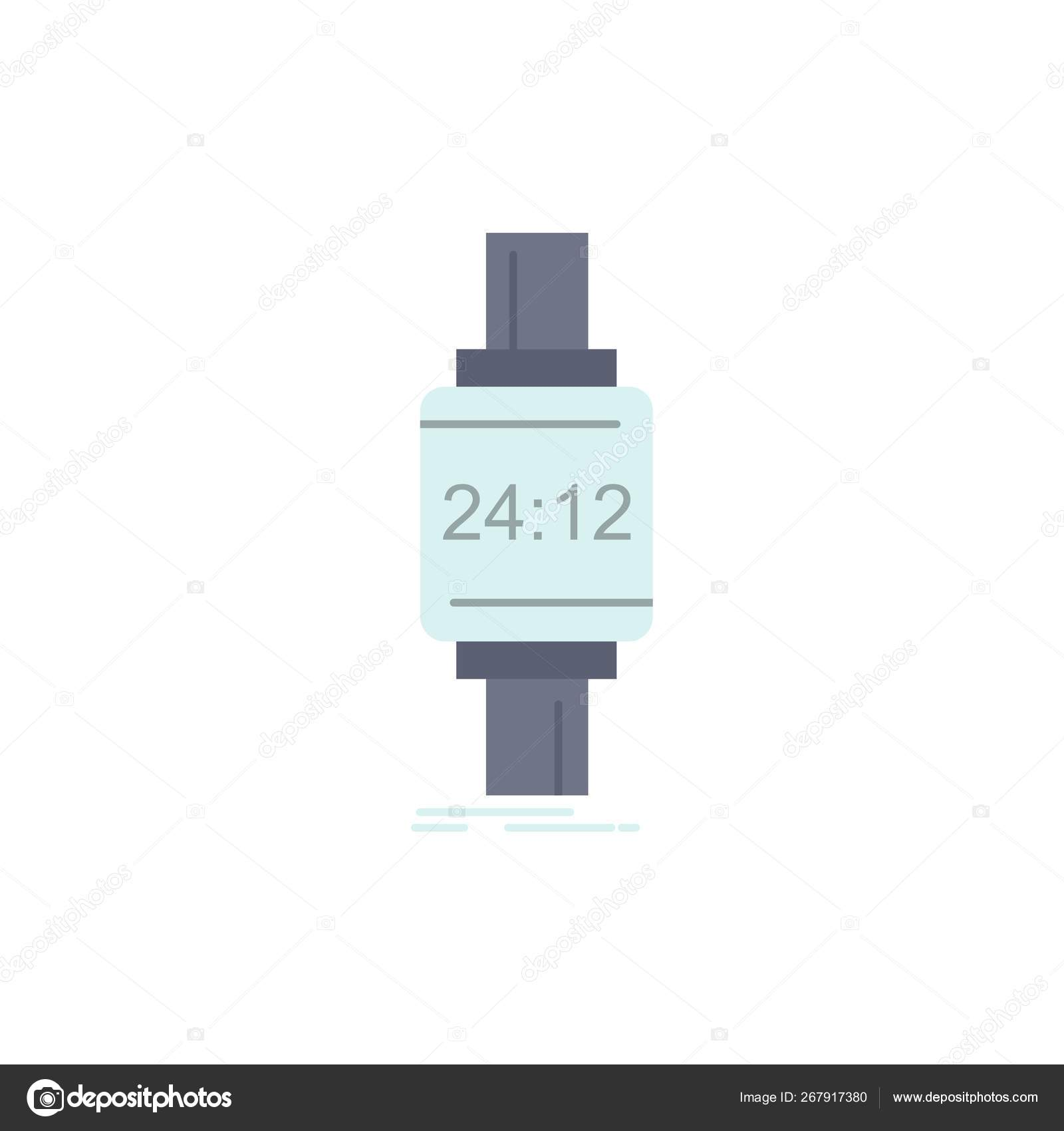 Smart watch, smartwatch, watch, apple, android Flat Color Icon V