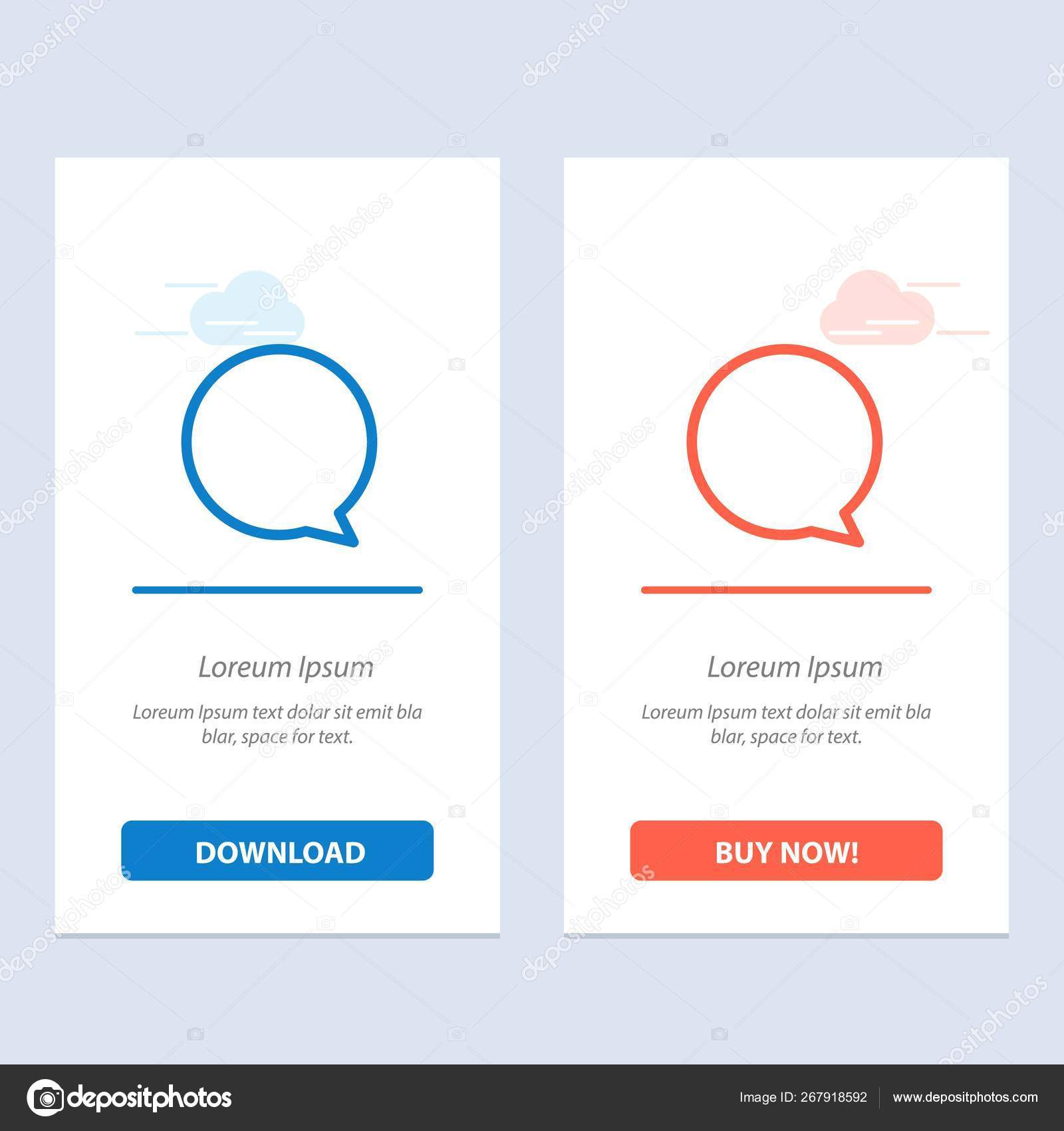 Chat, Instagram, Interface Blue and Red Download and Buy Now we