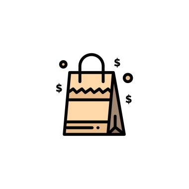 Bag, Handbag, Usa, American Business Logo Template. Flat Color icon