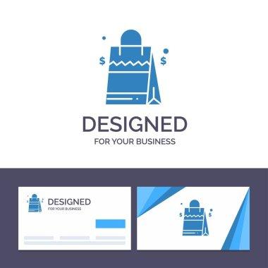 Creative Business Card and Logo template Bag, Handbag, Usa, American Vector Illustration icon
