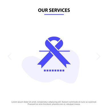 Our Services Cancer, Oncology, Ribbon, Medical Solid Glyph Icon