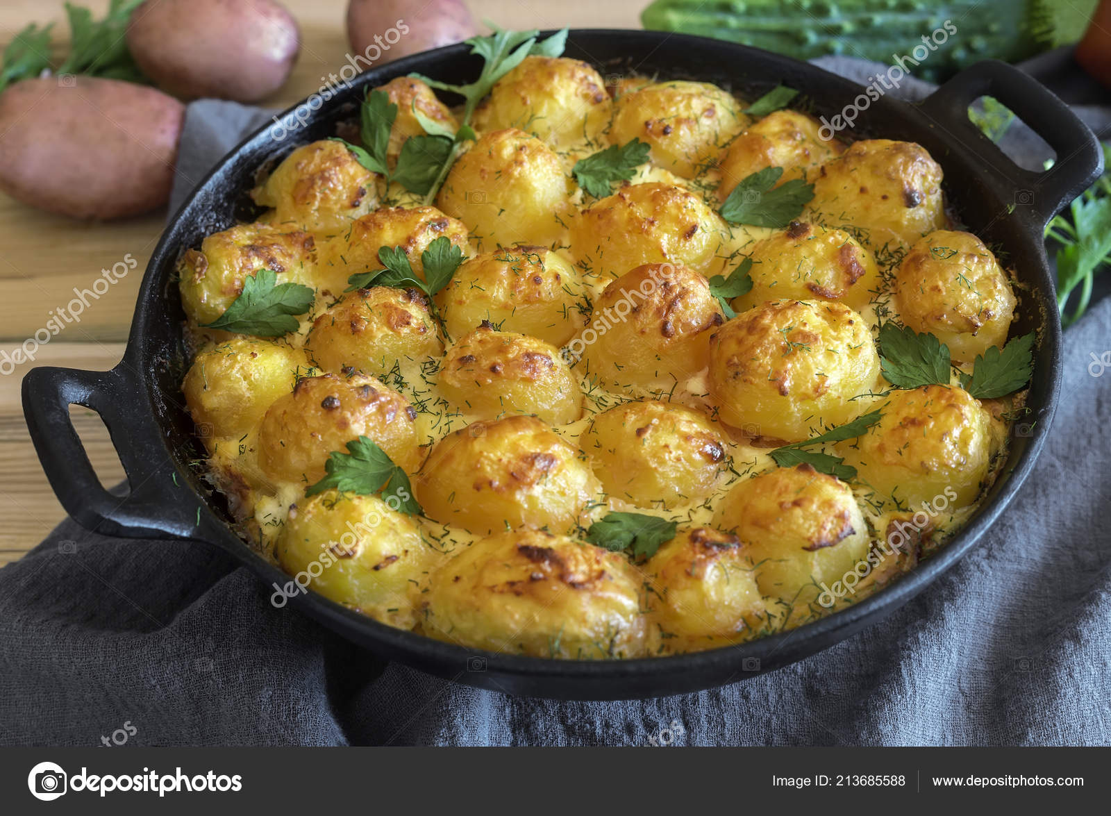 Fantastic Prince Potatoes Baked Oven Young Potatoes Cottage Cheese Eat Download Free Architecture Designs Scobabritishbridgeorg