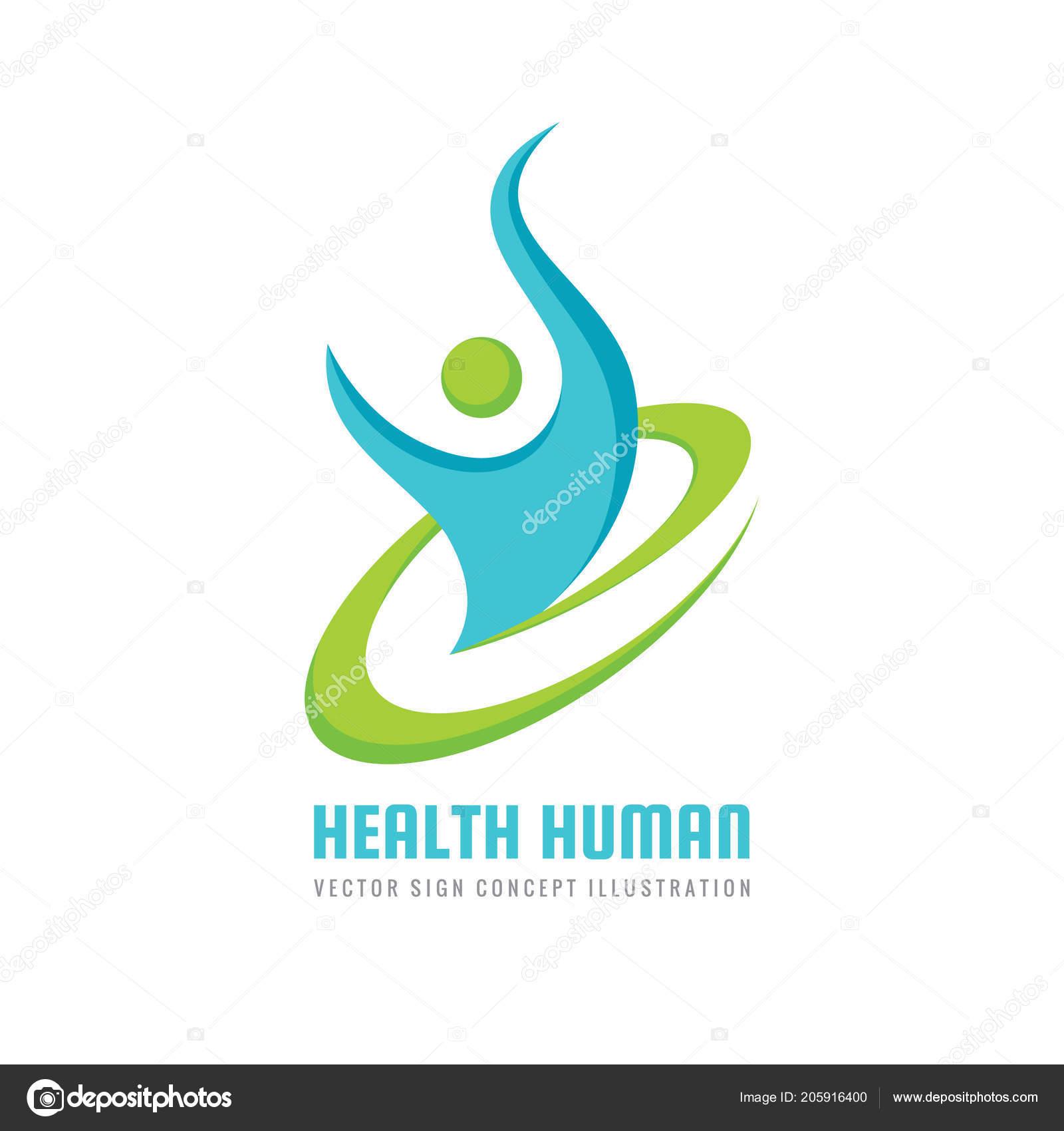 Health Human Character Vector Logo Template Sport Fitness