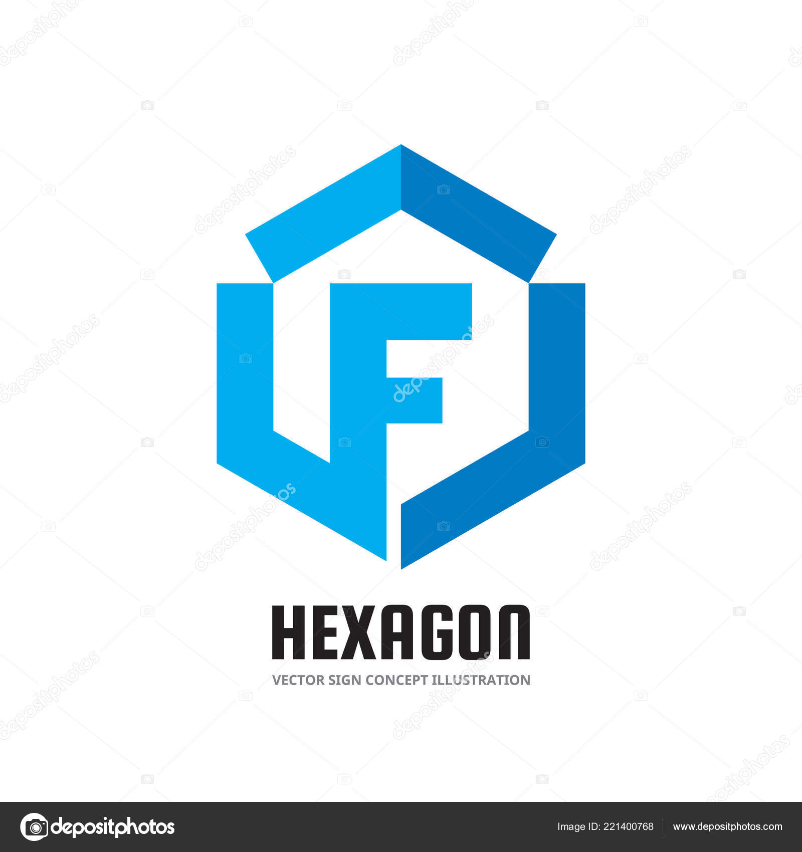 1f59fe01152af Letra F - vector business logo plantilla concepto ilustración de estilo  plano. Finanzas económica signo geométrico creativo. Símbolo de forma de  hexágono ...