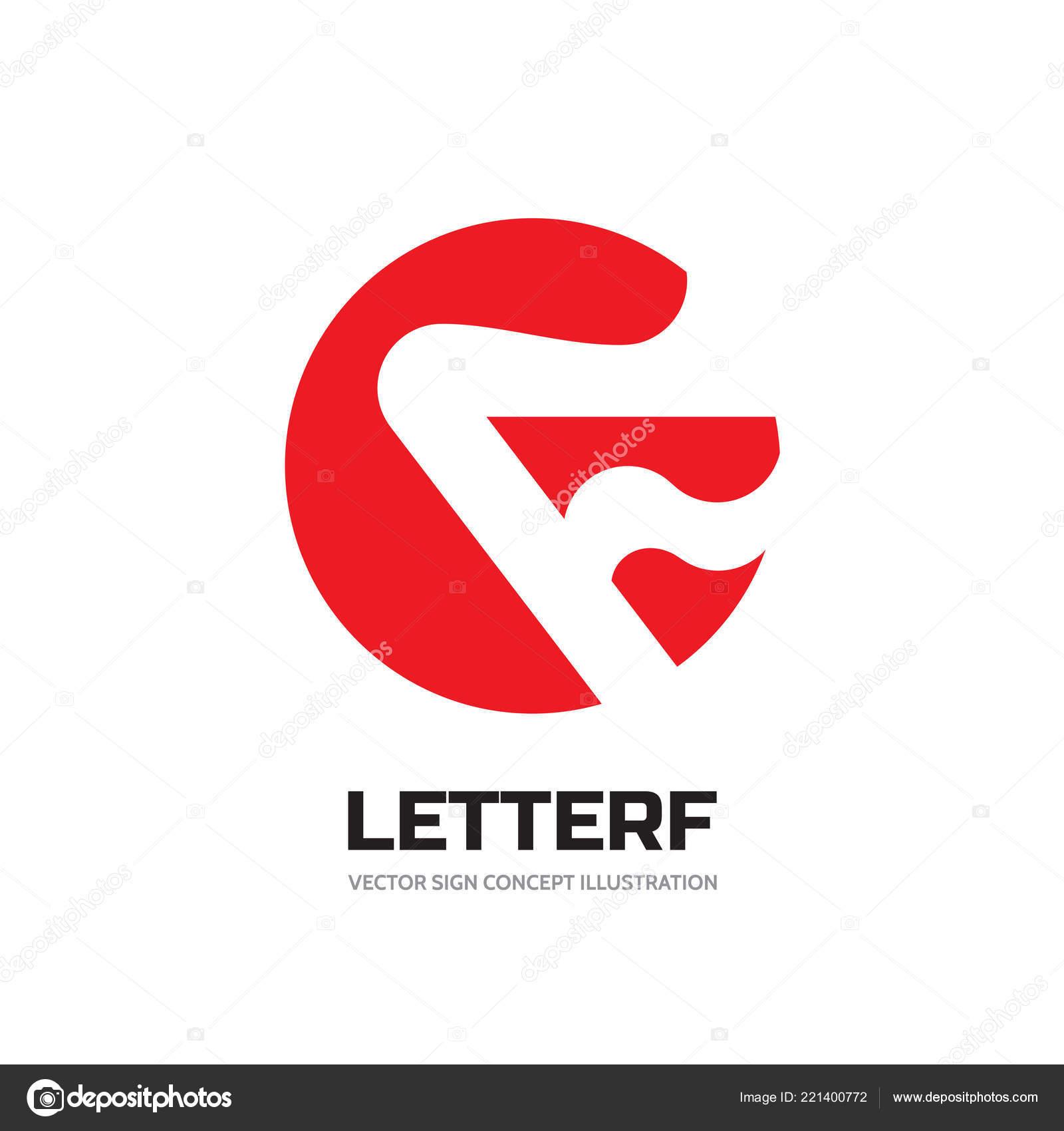 51dfdf4181377 Letra F en círculo - vector business logo plantilla concepto ilustración.  Símbolo abstracto de la llama de fuego. Elemento de diseño gráfico — Vector  de ...