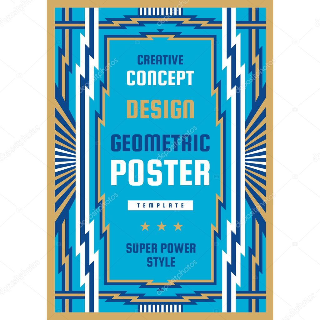 Graphic Design Poster Vertical Banner Vector Illustration Geometric Abstract Background Art Deco Style Premium Vector In Adobe Illustrator Ai Ai Format Encapsulated Postscript Eps Eps Format