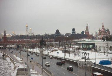 City Moscow winter Kremlin palace