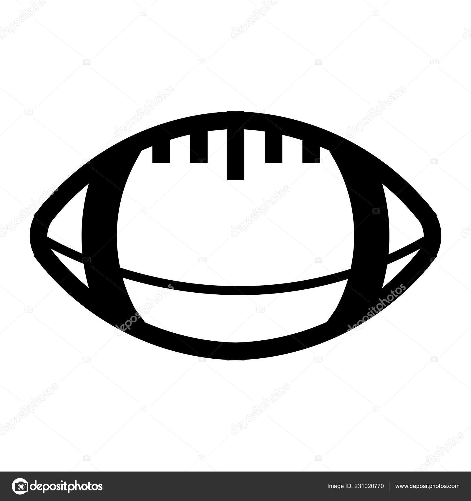 Ball American Football Oval Icon Vector American Football